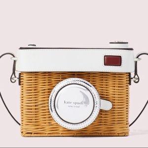 Kate Spade wicker camera bag